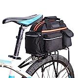QIULAO Fahrradgepäcktasche, wasserdichte Rückrahmentasche for Faltrad, 14L Großvolumige Radfahren Kamel-Tasche, Bewegliche Spielraum-Schulter-Beutel-Tragetasche, Profi-Radsport Zubehör