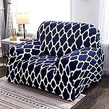 ASCV Geometric Elastic Chair Sofabezug Moderne Couchbezug Spandex Sofabezüge für Wohnzimmer Sofa Schonbezüge A13 4-Sitzer