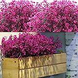 12 Bündel Künstliche Sträucher Büsche Künstliche Blumen Outdoor UV Beständig Pflanzen Blumen Dekorative Künstliche Sträucher Büsche für Blumen Arrangement, Haus Garten Dekor (Fuchsie)