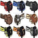 Y & Z Unternehmen Synthetische baumlosen Freemax Western Pferd Sattel 38,1cm zu 45,7cm Sitzfläche 1bekommen, passende erhältlich Umfang mit Leder Steigbügel, schwarz, 16' Inch Seat