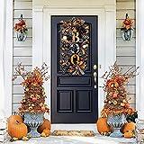FYHJND Halloweenkranz 50,8 cm Halloween Girlande Kranz für Haustür langlebig Outdoor Kranz für Halloween Garten Dekoration
