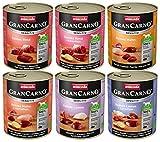 animonda GranCarno Hundefutter Adult Sensitiv, Nassfutter für ausgewachsene Hunde von 1-6 Jahren, Mix, (6 x 800 g)
