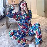 FYMIJJ Pyjama eingestellt,Pijama Mujer Autumn Winter Pajamas Woman Lovely Leisure Two Piece Set Mickey Printing Indoor Clothing Home Suit Sleepwear,1,L