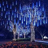 EEIEER 192 mini LED Eiszapfen Lichterkette sternschnuppe...
